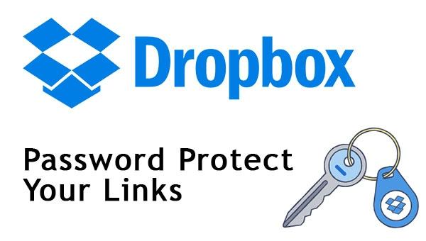 Dropbox Password Protect Links